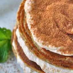 Tiramisu Pancakes With Banana-Cream Frosting