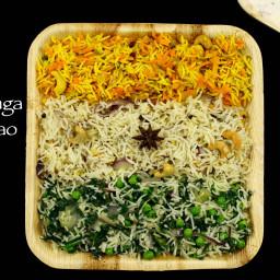 tiranga pulao recipe   tiranga rice recipe   tri-colour rice recipe