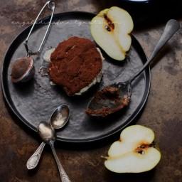 Tirmisù cioccolato, pere e salsa mou per Taste and More n.17