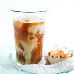 Toasted Coconut and Rum Iced Coffee