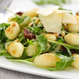 Toasted gnocchi salad