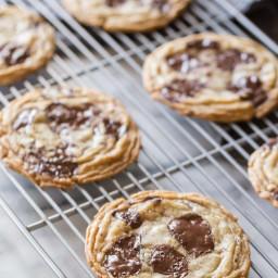 Toffee Almond Chocolate Chunk Cookies