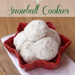 Toffee Almond Snowball Cookies for #CookieWeek