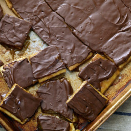 Toffee saltines crackers