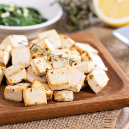 Tofu Baked in a Lemon-Rosemary Marinade