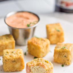 Tofu Chicken Nuggets with Sriracha Mayo