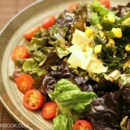 Tofu Salad with Sesame Ponzu Dressing