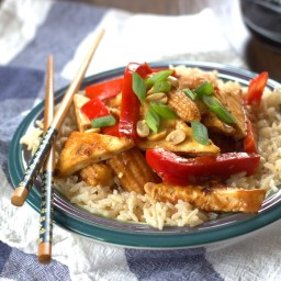 Tofu Stir-Fry with Tamarind Coconut Sauce