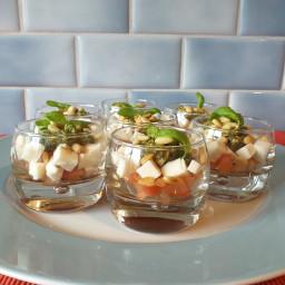 Tomaat-mozzarella glaasjes
