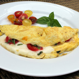 Tomato and Fresh Mozzarella Omelet