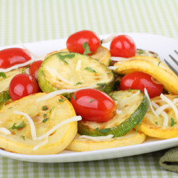 Tomato and Grilled Summer Squash Salad