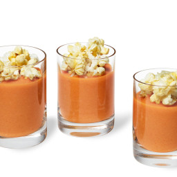Tomato and Truffle Popcorn Soup Shooters