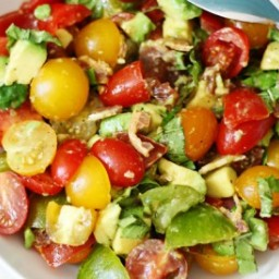 Tomato, Avocado and Bacon Salad