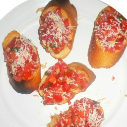 Tomato Bruschetta W/ Fresh Basil