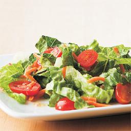 Tomato, Carrot & Romaine Salad