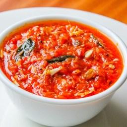 Tomato Chutney in Microwave