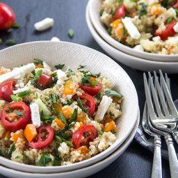 Tomato Feta Greek Quinoa Salad