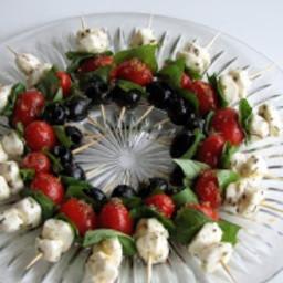 Tomato, Mozzarella, and Black Olives