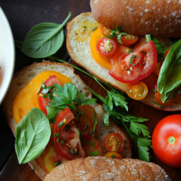 Tomato Salad on a Roll