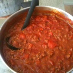 Tomato Sauce with Ground Beef
