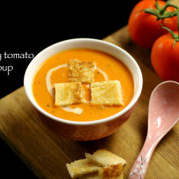 tomato soup recipe | creamy tomato soup recipe
