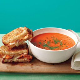 Tomato Soup with Bacon Grilled Cheese
