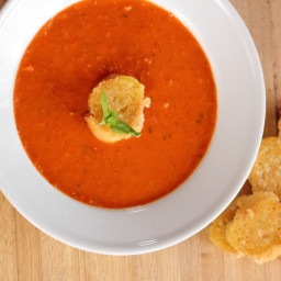 Tomato Soup With Parmesan Croutons