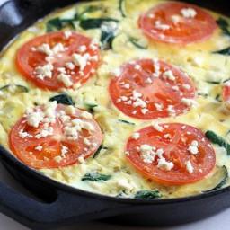 Tomato, Spinach and Feta Fritatta