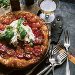 Tomato Tarte Tatin with Burrata