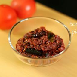 tomato thokku recipe   thakkali thokku recipe   spicy tomato pickle recipe