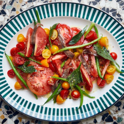 Tomatoes and Haricots Verts with Anchovies