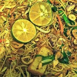 Tom Yam Fried Mee Hoon ( Tom Yam Fried Rice Vermicelli )