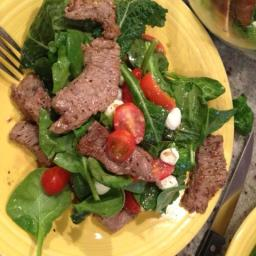 Top Sirloin Strip Salad Caprese Salad