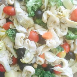 Tortellini and artichoke salad