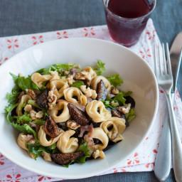 Tortellini Salad with Figs, Walnuts, Prosciutto and Greens