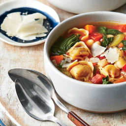 Tortellini, White Bean, and Turnip Greens Soup Recipe