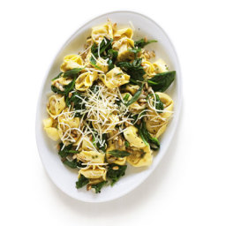 Tortellini with Pine-Nut Brown-Butter Sauce