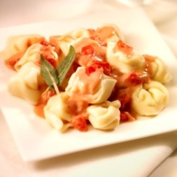 Tortellini with Tomato-Sage Sauce