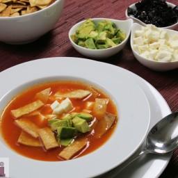 Tortilla soup (Morelos Cooking Sauce)
