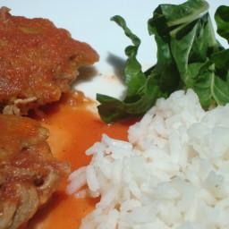 Tortitas de Carne en Salsa de Jitomate