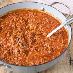 Traditional Bolognese sauce