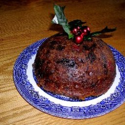 Traditional Christmas Pudding with Brandy Sauce