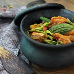 Traditional Filipino Vegetable Recipe (Pinakbet an Ilocano dish)