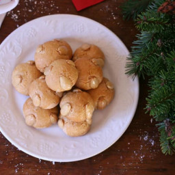 Traditional German Bethmännchen (Marzipan Cookies)