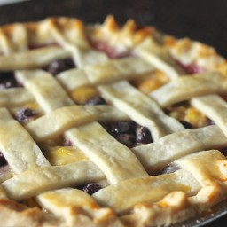 Traditional Peach Blueberry Pie