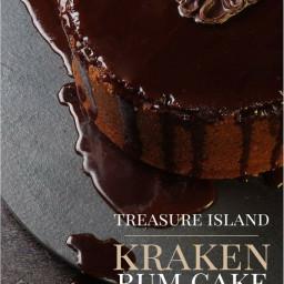 Treasure Island; Kraken Rum Pirate Cake