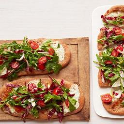 Tricolor Salad Pizzas