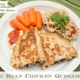 Trim Healthy Mama Black Bean Chicken Quesadillas