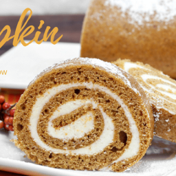 Trim Healthy Mama Pumpkin Cake Roll with Cream Cheese Filling
