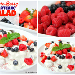 Triple Berry Shortcake Salad